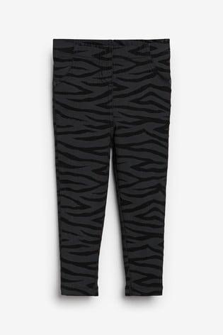 Black Zebra Denim Jeggings (3mths-7yrs)