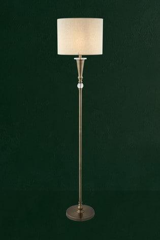 Searchlight Chrome Brieda 1 Light Floor Lamp
