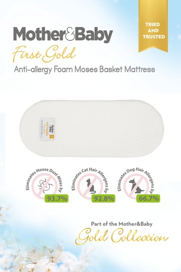 Mother&Baby First Gold Anti Allergy Foam Moses Basket Large