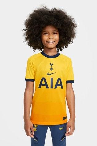 Nike Yellow Tottenham Hotspur Third Kids Football Shirt