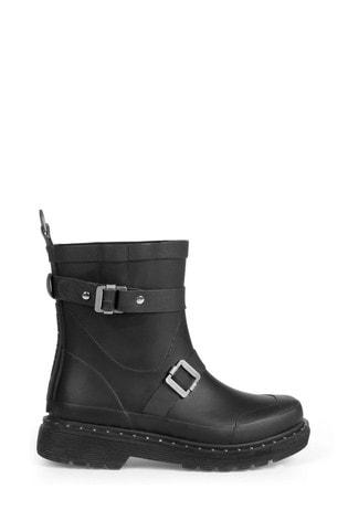 Ilse Jacobsen Hornbk Black Short Wellies