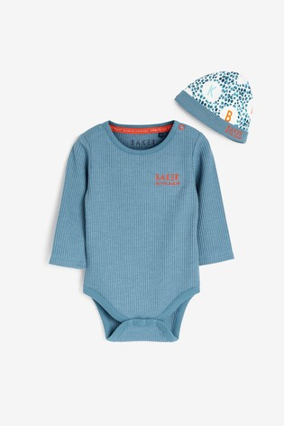 Baker by Ted Baker Baby Boy Waffle Bodysuit And Hat Set