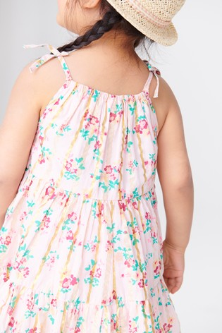 Pink Ditsy Tiered Cotton Sundress (3mths-7yrs)