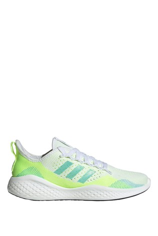 adidas White/Green Fluidflow Trainers