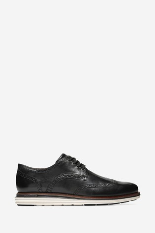 Cole Haan Black Originalgrand Wing Oxford Luxury Lace-Up Shoes