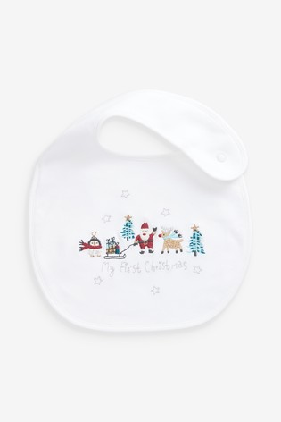 Buy 2 Pack My First Christmas Dribble Bibs from Next Austria