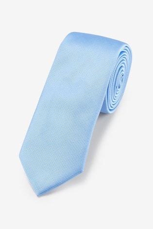 Bright Blue Slim Twill Tie