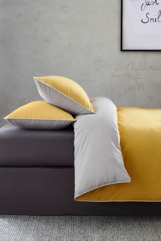 Two Tone Reversible Duvet Cover and Pillowcase Set