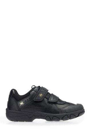 Start-Rite Tarantula Black Leather Wide Fit Shoes