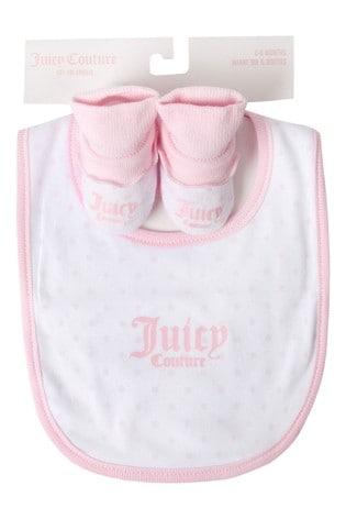 Juicy Couture Dot Bib & Bootie Set