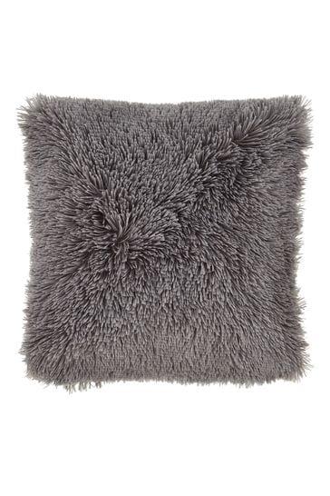Catherine Lansfield Grey So Soft Cuddly Cushion