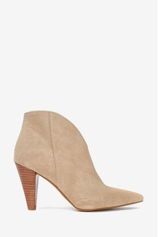 Mint Velvet Finny Sand Seude Ankle Boots
