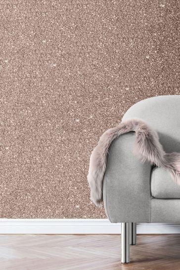 Muriva Rose Gold Sparkle Wallpaper