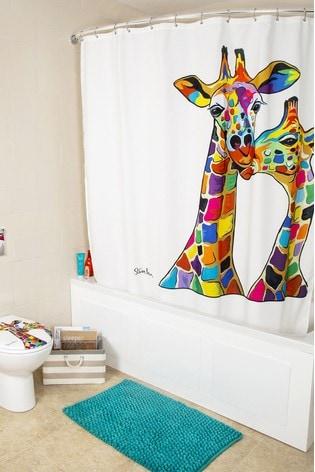 Croydex Francie And Josie Giraffe Shower Curtain