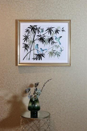 Oriental Birds Framed Print by Arthouse