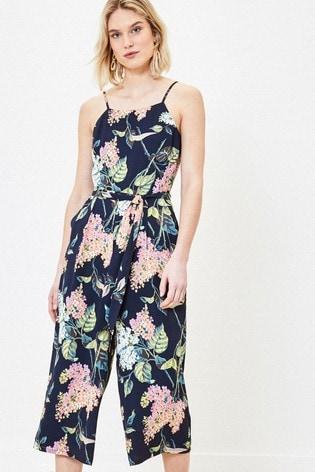 Oasis Blue Blossom Print Jumpsuit