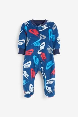 Nike Baby Navy Futura Sleepsuit