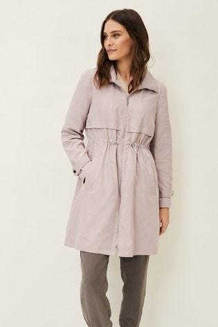 Phase Eight Pink Sindy Parka Coat