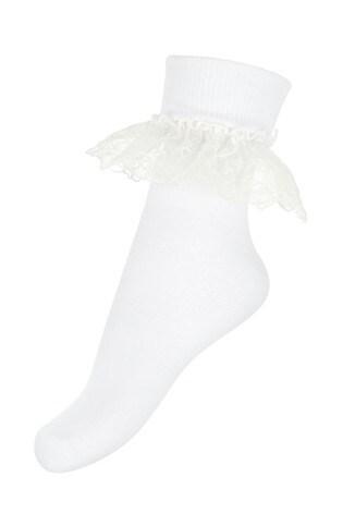Monsoon White Lace Socks