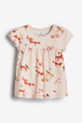 Pink Unicorn Cotton T-Shirt (3mths-7yrs)