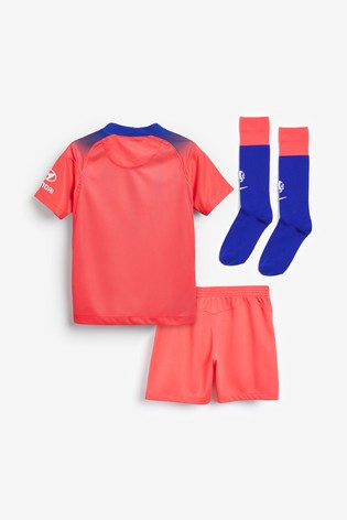 Nike Red Chelsea FC Third 20/21 Infant Kids Mini Kit