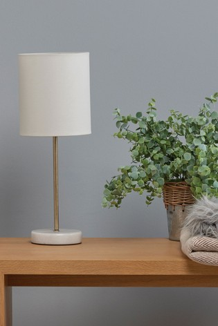 Village At Home Brass Bianco Table Lamp