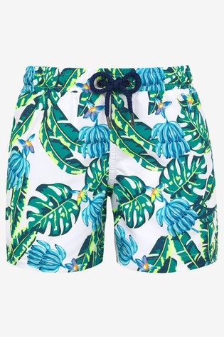 Sunuva Blue Banana Palm Swim Shorts