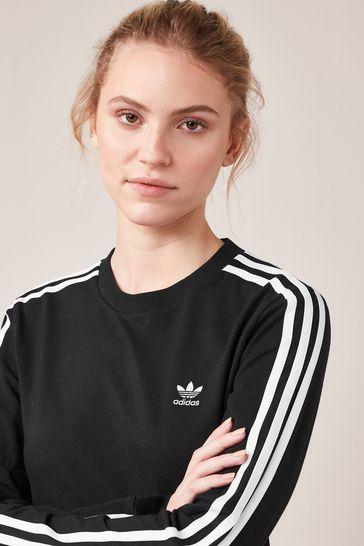 adidas Originals 3 Stripe Long Sleeved T-Shirt