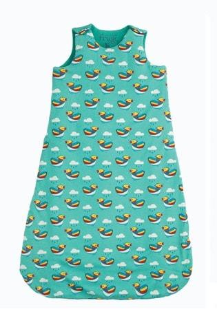 Frugi Blue Organic Tog Baby Duck Print Sleeping Bag
