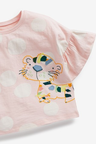 Purple Frill Leopard T-Shirt (3mths-7yrs)