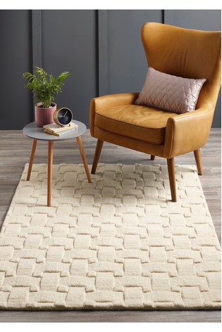 Origins Textured Basketweave Wool Rug