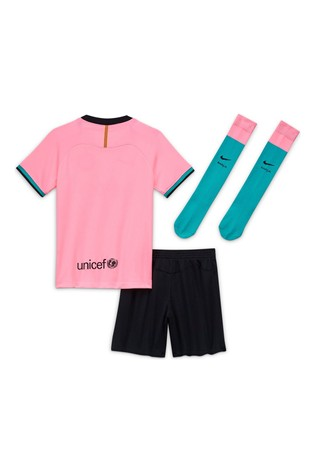 Nike Pink FC Barcelona Third 20/21 Kids Mini Kit