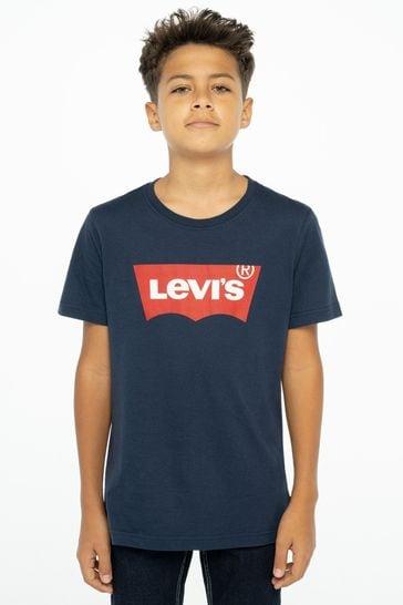 Levi's® Navy Batwing Logo T-Shirt