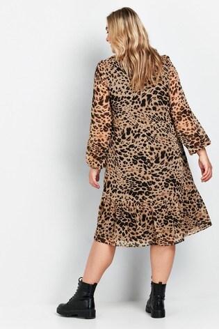 Evans Curve Animal Print Dress