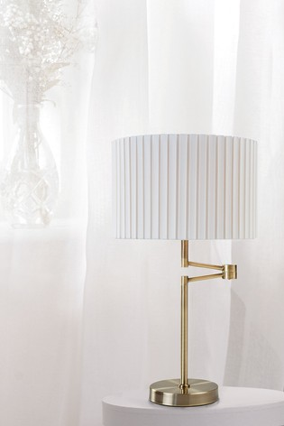 Village At Home Brass Fenella Table Lamp