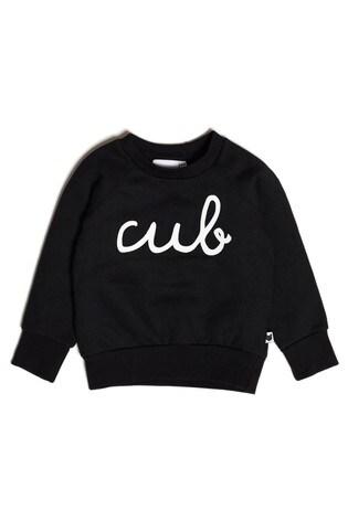 Tobias & The Bear Black Cub Organic Cotton Sweatshirt