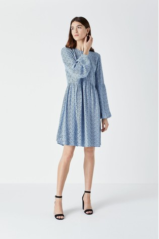 Finery Blue Castille Mini Dress
