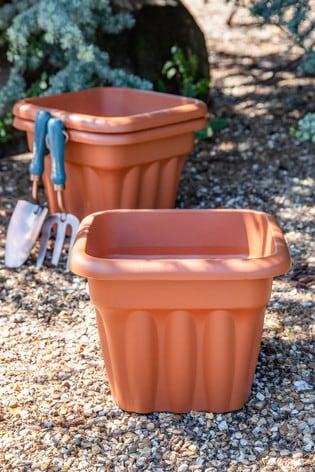 Set of 3 Vista 33cm Square Garden Planters by Wham