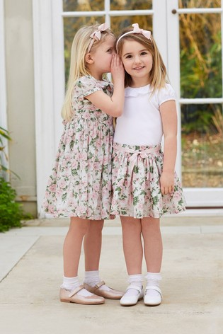 Trotters London Pink Carline Rose Liberty Print Skirt