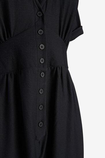 Black Maternity/Nursing Button Through Jumpsuit