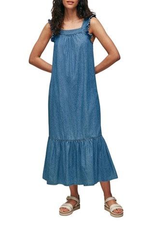 Whistles Square Neck Trapeze Dress