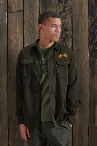 Superdry Core Military Patched Shirt