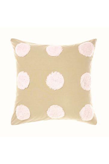 Pink Haze Tufted Spot Pillowcase Sham by Linen House