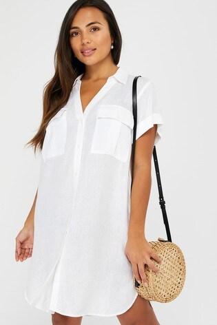Accessorize White Beach Shirt