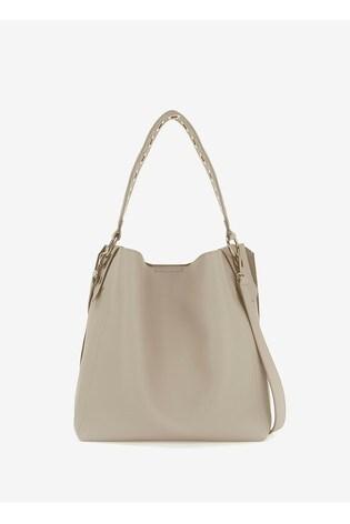 Mint Velvet Ellie Chalk Eyelet Strap Bag
