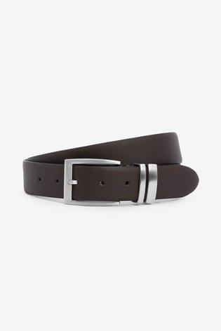 Burgundy/Brown Leather Belt