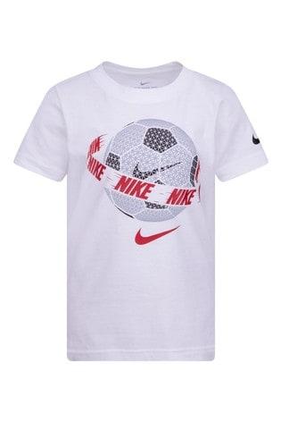 Nike Little Kids White Football T-Shirt