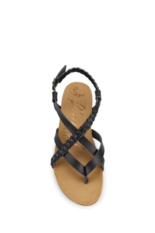 Blowfish Black Mallorca Braided Upper Footbed Sandals