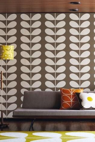 Orla Kiely Mink Giant Stem Wallpaper