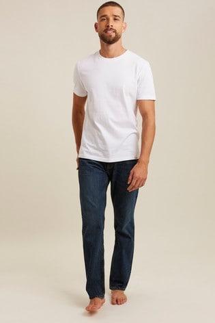 FatFace Denim Straight Mid Wash Jeans